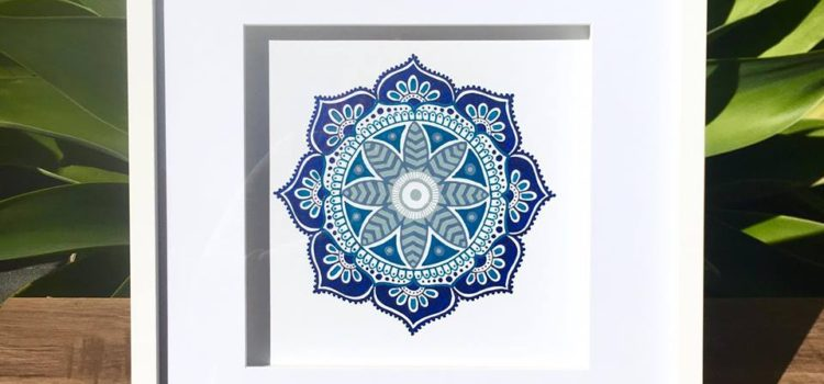Hand drawn mandala artworks