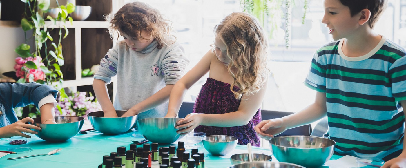Treat your child to an aromatherapy birthday party where they create their very own perfume sprays, fun bath products, and more.